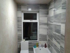 We fitted L.E.D lights to give extra light in the bathroom.